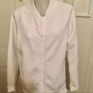 Lululemon Zip  Jacket - winter white ,poly blend